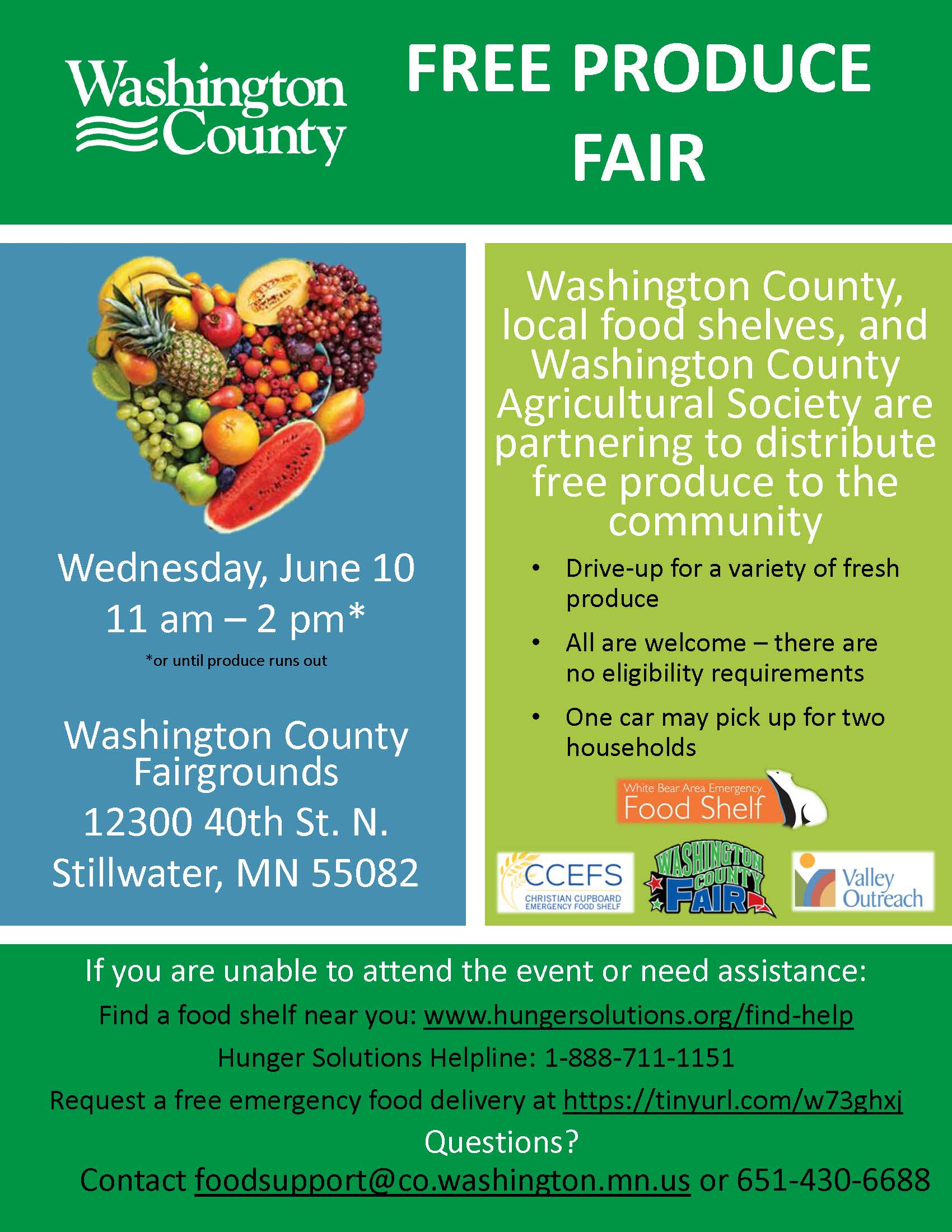 Washington County Free Produce Fair Flyer (IMAGE)