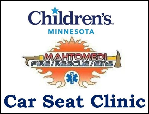 Children&#39s MN Mahtomedi Fire CarSeat Clinic Logo (IMAGE)