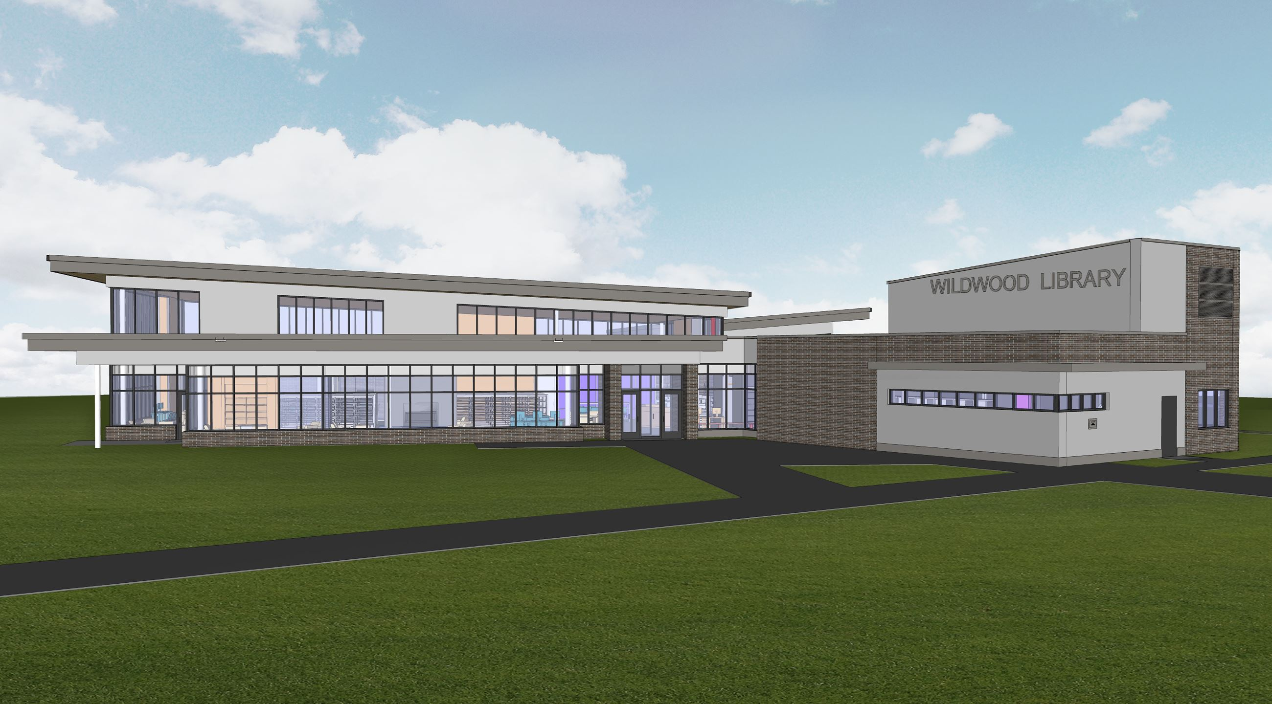 New Wildwood Library - Front Elevation (IMAGE)
